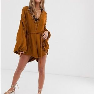 Free People I Mean It Rober Romper Size SP